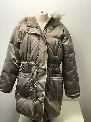 Girls Gap Kids Bronze Quilted Hooded Warm Winter Coat Jacket Kids Age 12 Years