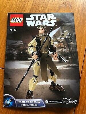 LEGO STAR WARS BUILDABLE FIGURE 75113 REY Retired Complete Box And Instructions