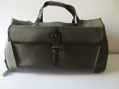 "Polo Ralph Lauren 26"" Olive Green Brown Wheeled Rolling Duffel Bag Large Luggage"