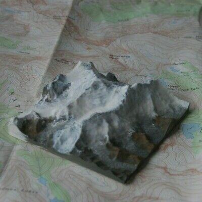 Mt. Everest - 3D Printed Mountain Topo Map Model