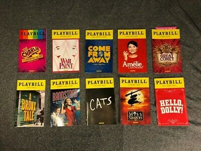 Lot of 10 Playbills - 2016/2017 Season - Bandstand, The Great Comet and more