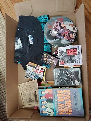 New kids on the block lot buttons t shirt magazines posters books tapes cards