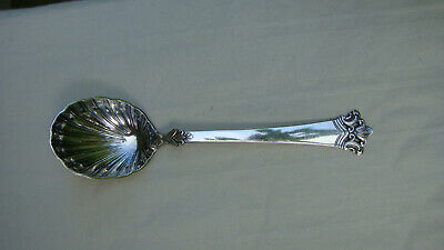 "Vintage Norway Magnus Aase ""Anitra"" 830S Silver Spoon Server Sugar Spoon"