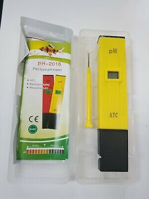 Pocket Digital pH Meter Tester Pen ±0.1pH - ATC Waterproof for Pool Aquarium Lab