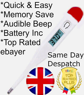 Digital Stick LCD Medical Temperature Thermometer Fever Baby Adult Oral Mouth UK
