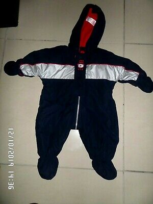 Marks & Spencer Baby Boys Navy Blue Snowsuit 0-3 Months Excellent Condition