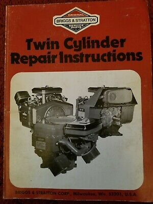 Briggs & Stratton Various Models Twin Cylinder Repair Instruction Manual 271172