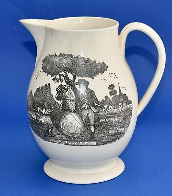 Antique Florizel & Perditta Royal Shepherd & Shepherdess Table Jug (18.5cm/1.5L)
