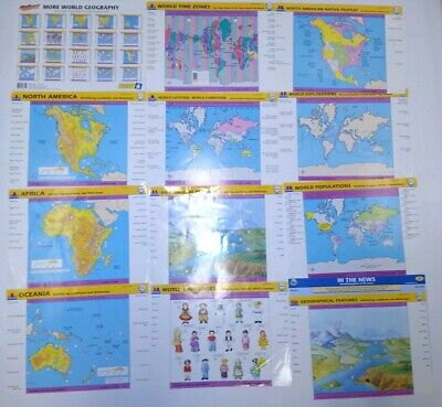 Geosafari More World Geography Cards Learning Game EI-8711 Vintage 1990 Complete