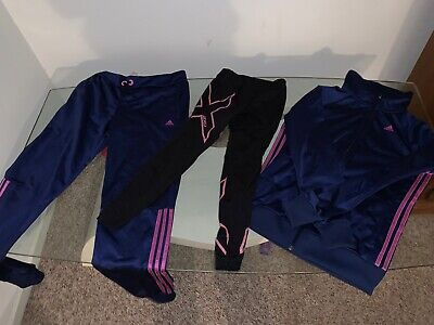 Kids Girls, Adidas Tracksuit And 2xu Pink Tights