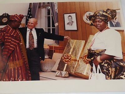 """official WHITE HOUSE PHOTOGRAPH AFRICAN DIGNITARIES Visit 1973 Color 11"""" x 14"""""""