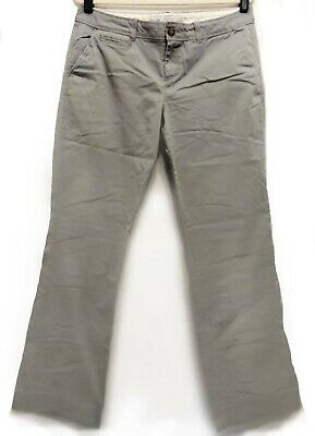 Old Navy Light Grey Casual Cotton-Blend Chino Long Pants Ladies Size 12