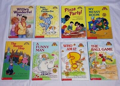 Lot 8 Scholastic Learn to Read Children Books Early Readers Beginning Level 1 HB