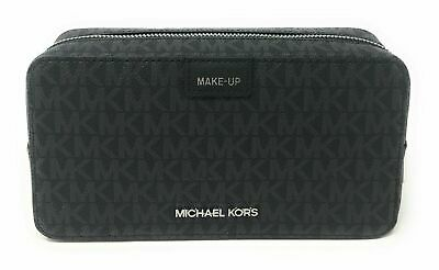 Michael Kors Large Double Zip Travel Make-Up Pouch in Signature Black