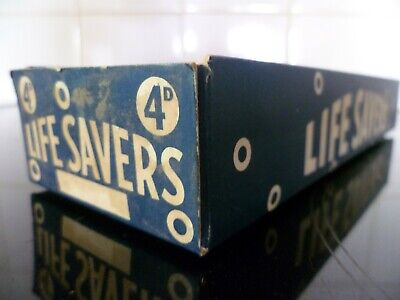 LIFE SAVERS ORIGINAL DISPLAY BOX '4d PER PACKET', with outer sleeve.