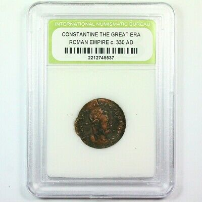 Slabbed Ancient Roman Constantine the Great Coin c. 330 AD Exact Coin Shown 6269
