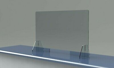 """SNEEZE GUARD Large 48"""" x 30"""" Acrylic SHIELD for Cashier CHECKOUT COUNTER Desk"""