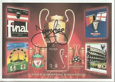 Jimmy Case Liverpool signed postcard