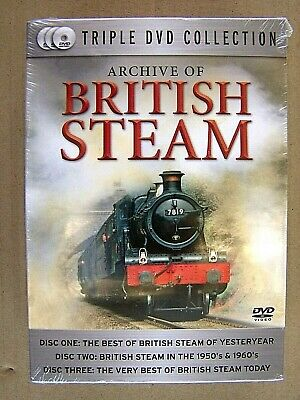 Archive Of British Steam. Triple Dvd Collection.
