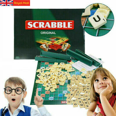 UK Original Scrabble Board Game Family Kids Adults Educational Toys Puzzle Game
