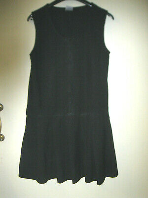 Girls aged 11 to 12 years black school dress
