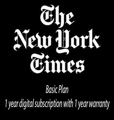The New York Times NYTimes 1 Year Basic Digital Subscription Plan