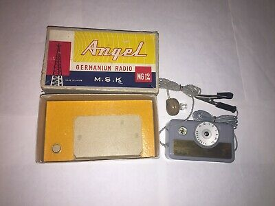 VINTAGE COLLECTIBLE   ANGEL  GERMANIUM  RADIO 1950s MODEL MG12 WORKING