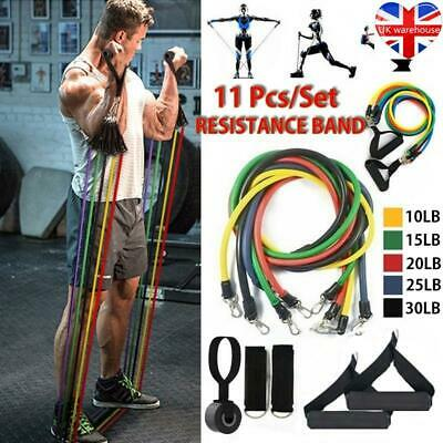 11Pcs set Resistance Bands Workout Exercise Yoga Crossfit Fitness Training Tube