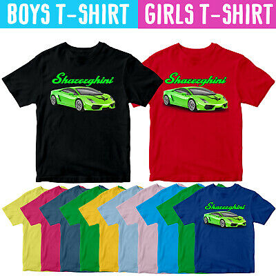 Kids SHAREGHINI Share The Love Youtuber Fan Inspired Car Lambo Green T Shirt