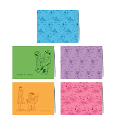 Sesame Street Notecards: 10 Notecards And Envelopes ACC NEW