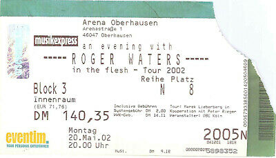 Pink Floyd - Roger Waters Ticket Tour 2002