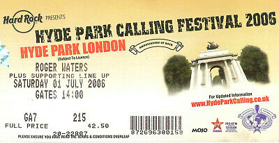 Pink Floyd - Roger Waters Ticket Tour 2006 - Hyde Park