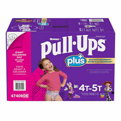 Huggies Pull Ups Training Pants For Girls Size 4T-5T: 38-50lbs, 102ct  CWS
