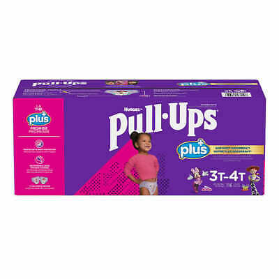 Huggies Pull Ups Training Pants For Girls Size  3T-4T: 32-40lbs, 116ct  CWS