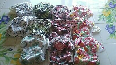 11 Blueberry Simplex All In One Cloth Diapers Stained Flawed