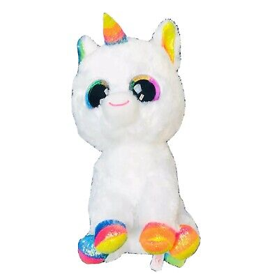 TY Beanie Boos - MWMTs PIXY the Unicorn Glitter Eyes Plastic Key Clip