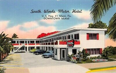 South Winds Motor Hotel Miami Fl Tichnor Gloss