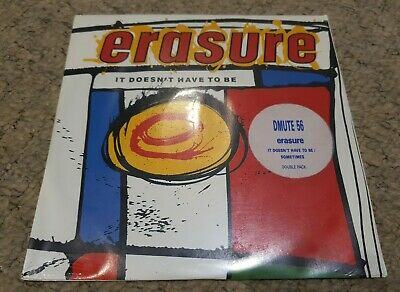 "Erasure - It Doesnt Have To Be -  Sometimes 7"" DOUBLE PACK SEALED"