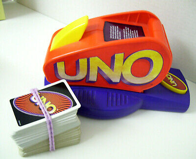 UNO Card Game Shuffler w/ 2 Packs of Game Cards by Mattel - Battery Operated