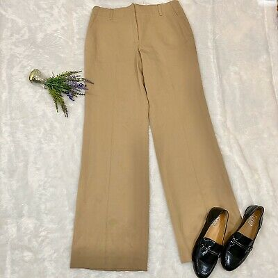 J Crew Favorite Fit Wool Trousers Size 8 NEW W Flaw Beige Summer Weight Classic