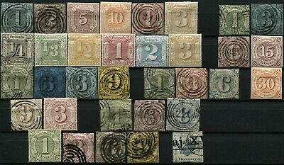 GERMANY Thurn and Taxis Districts Postage Stamp Collection Used Mint LH