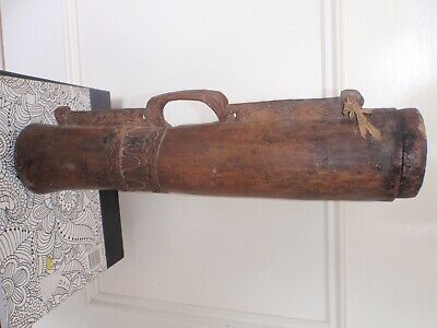 Authentic Antique New Guinea Hand Drum - 450mm Tall