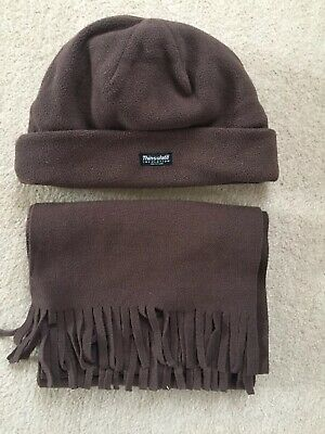 Thermal Hat And Scarf Brown One Size