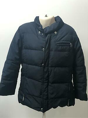 Girls Il Gufo Navy Quilted Warm Coat Jacket Kids Age 5 Years