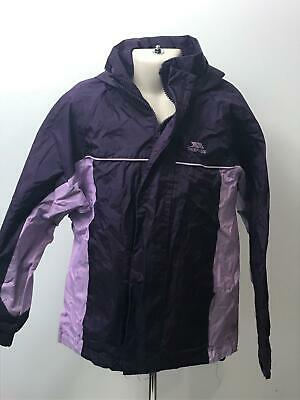 Girls Kids Trespass Purple & Lilac Hooded Warm Coat Jacket Kids Age 7-8 Years