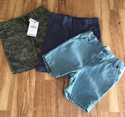 Three Pairs of MARKS & SPENCER Boys Shorts - Age 4/5 Years - BNWT