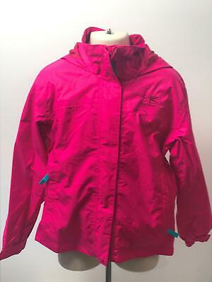 Girls Karrimor Pink Hooded Lightweight Raincoat Jacket Kids Age 11-12 Years