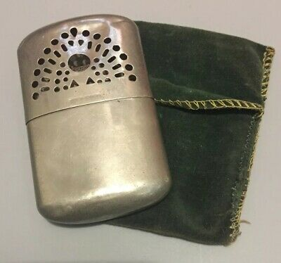 Vintage Hand Warmer with felt case Peacock Made in Hong Kong and Japan