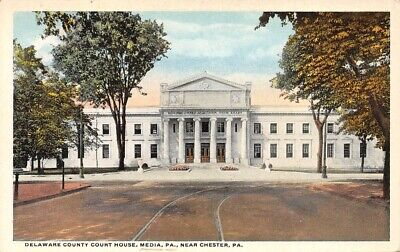 Delaware County Court House Media Pa near Chester Post Card Distributors Co