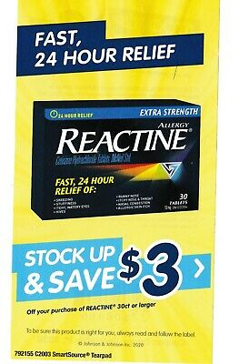 save on REACTINE anti allergy coupons + Bonus [Canada]